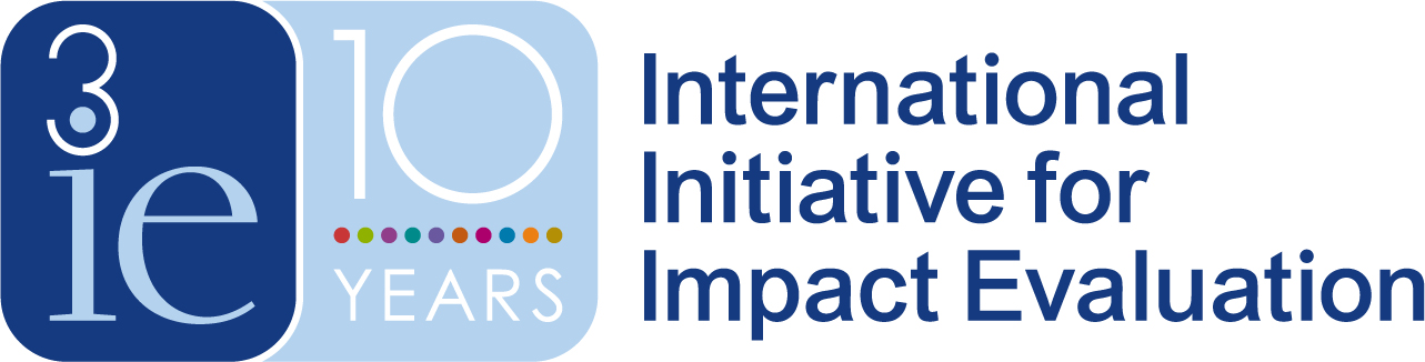 The International Initiative for Impact Evaluation logo